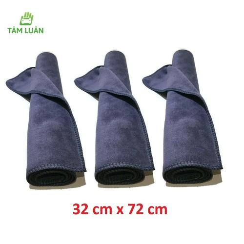 Bộ 3 khăn lau ô tô xe hơi chuyên dụng 32x72cm vệ sinh oto Tâm Luân