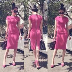 Váy hồng Ngọc Trịnh