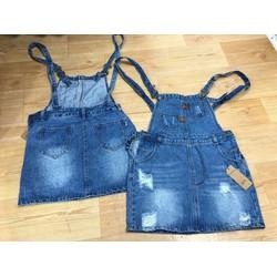 Váy yếm jeans hàng vải đẹp