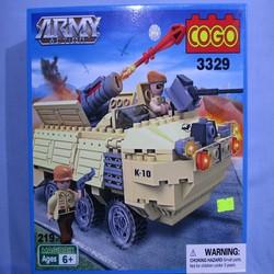 Bộ đồ chơi xếp hình LEGO xe pháo tên lửa