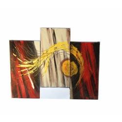 Bộ tranh sơn dầu 3 tấm ghép, kích thước 90x60cm. S19-2-lua