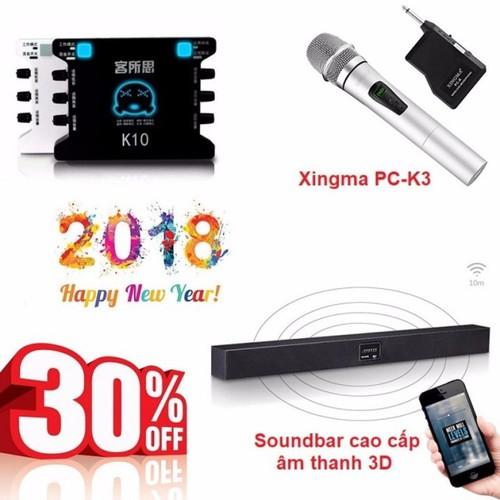 Bộ combo Karaoke không dây cao cấp - Sound card XOX K10