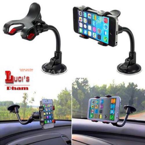 kẹp điện thoại trên ô tô đế hít chân không