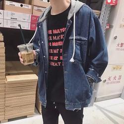 Áo khoác Jeans ngoại có mũ