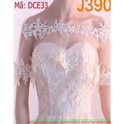 Đầm xòe ngắn phối ren lưới màu trắng trẻ trung và xinh đẹp DCE33