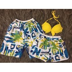 set 2 quần đi biển nam nữ