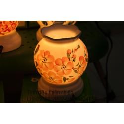Đèn xông tinh dầu bát tràng thấu quang gốm sứ  điệnđèn trang trí