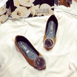 Giày búp bê cục bông tròn shop thời trang giá rẻ