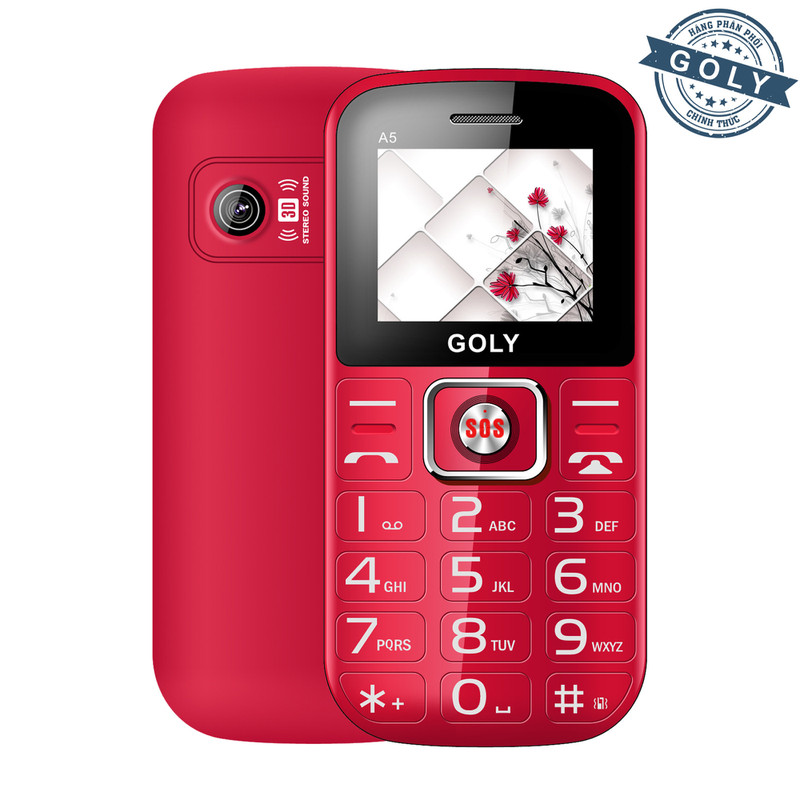 Điện thoại dành cho người già Goly A5 - Hãng phân phối chính thức 1