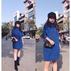 váy len xanh coban cực hot