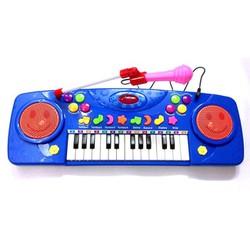 Đàn organ có nhạc và micro hát karaoke cho bé