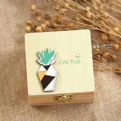Hộp nhạc gỗ quay tay-cactus