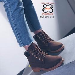 Giày boot nữ thắt dây cổ ngắn