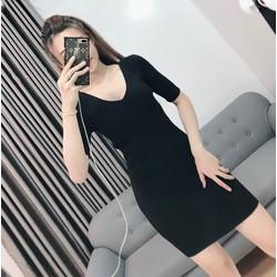 Đầm ôm body cổ V