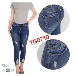 quần jeans wash rách