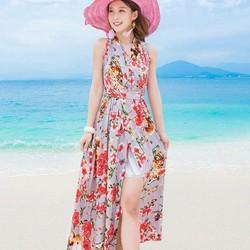Đầm maxi hoa quyến rũ