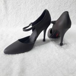 Giày mọi cao gót 2 quai đế nhọn 10 phân