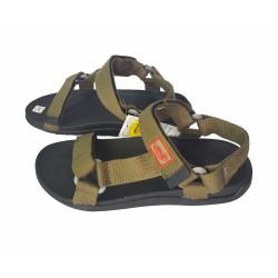 Giày Sandal Nam quai vải bố thời trang - màu Đen Xanh Xám