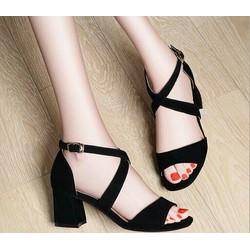 Giày cao gót quai chéo