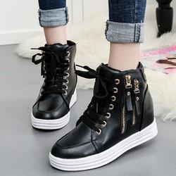 Giay boot nữ cổ cao cá tính BM065D