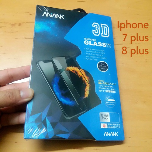 Kính cường lực iphone 7 8 plus full 3D Pro 9H thương hiệu Nhật Bản