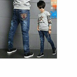 Quần jean dài bé trai cào rách jean mềm co giãn cực đẹp