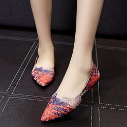 Giày búp bê phối màu độc đáo, sang trọng quý phái 116