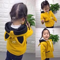 Áo khoác Dạ bé gái 1 đến 4 tuổi