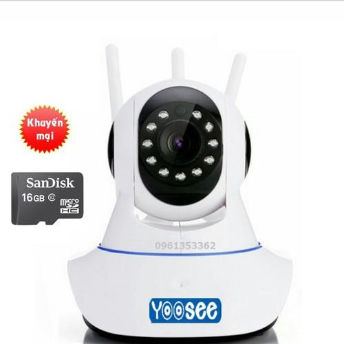 Camera yoosee 3 anten + Tặng thẻ hãng 16GB