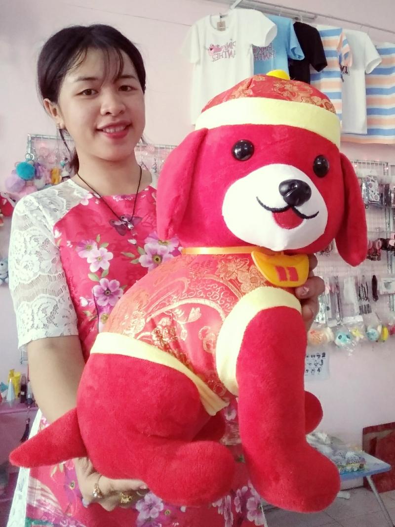 Gấu Bông Chó Tết 35 cm-Chó Phát Tài 2018 2