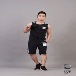Đồ bộ thể thao nam phong cách - màu đen - xám