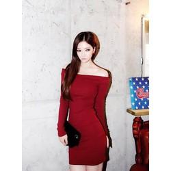 Đầm body bệt vai đỏ