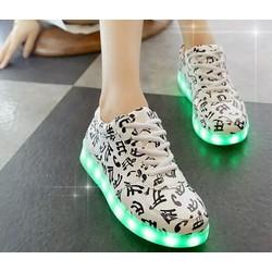 Giày phát sáng 7 màu hoạ tiết nốt nhạc đẹp, thời trang cho phái nữ