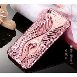 Ốp lưng silicon 3D 3 chiều thiên nga tình yêu cho Iphone 7plus mới.