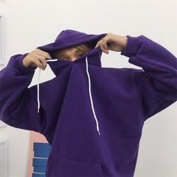 Áo hoodie unisex tím hoa cà  áo unisex