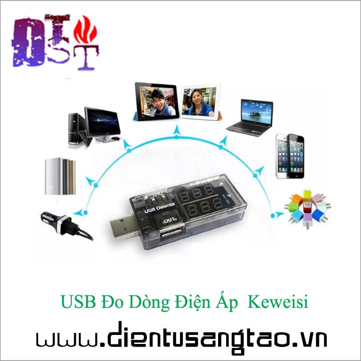 USB Đo Dòng Điện Áp  Keweisi 3