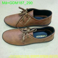 Giày mọi nam da bò thắt dây viền mai tinh tế thời trang GDM187