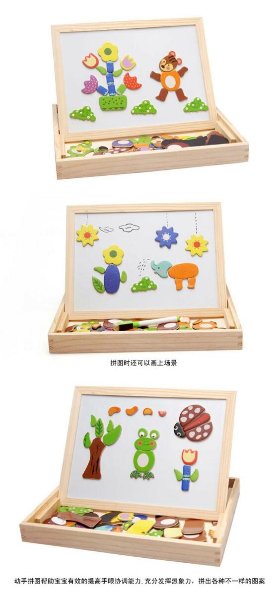 Bộ đồ chơi Gỗ Nam Châm lắp ghép tranh cho bé phát triển trí tuệ 3