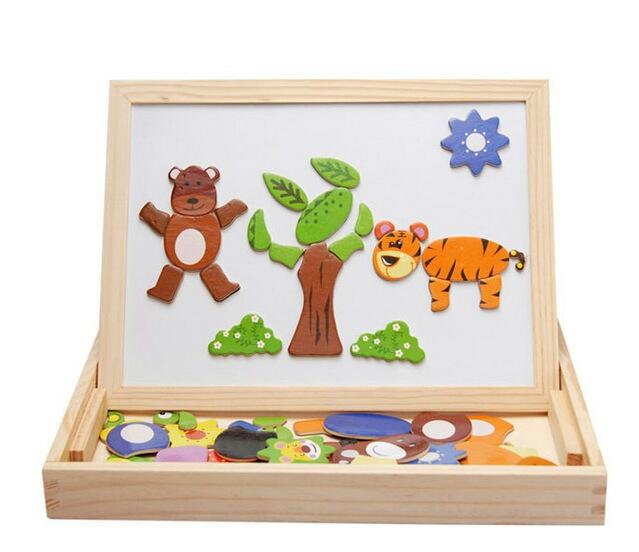 Bộ đồ chơi Gỗ Nam Châm lắp ghép tranh cho bé phát triển trí tuệ 1