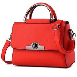 Túi xách đeo chéo nữ khóa tròn MS8 - màu đỏ