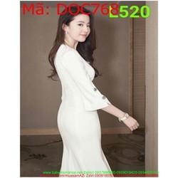 Đầm ôm body công sở dài tay thiết kê phom dài trẻ trung DOC768