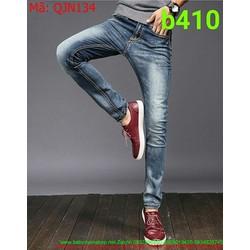 Quần jean nam xanh wash sành điệu và thời trang QJN134