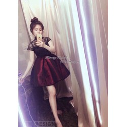 Đầm Xoè Ren Tay Con