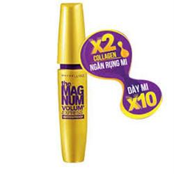 Mascara Maybeline Magnum chống nước làm dày và cong mi