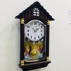 Đồng hồ treo tường quả lắc ngôi nhà - Món quà tết ý nghĩa