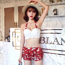 Bộ bikini nữ kèm áo ren mặc ngoài - giá 590k -QZ8515