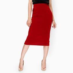 Chân váy bút chì thanh lịch màu đỏ