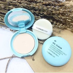 PHẤN PHỦ NÉN THE FACE SHOP OIL CLEAR SMOOTH BRIGHT POWDER SPF30