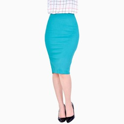 Chân váy bút chì màu xanh NT Fashion size L