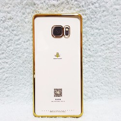 Ốp lưng Galaxy Note FE , NOTE 7 - Viền màu Vàng , hiệu Meephone